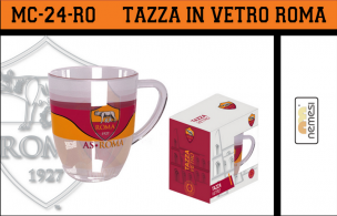 TAZZA IN VETRO AS ROMA