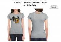 T-SHIRT - LENTO/VELOCE - GREY - WOMAN